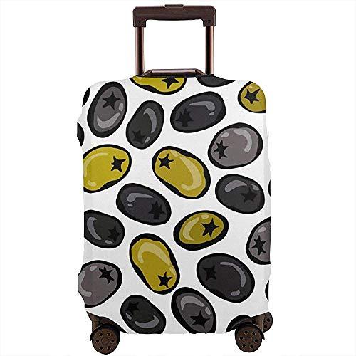 Cubierta de Equipaje de Viaje Aceitunas Verdes y Negras maduras Protector de...