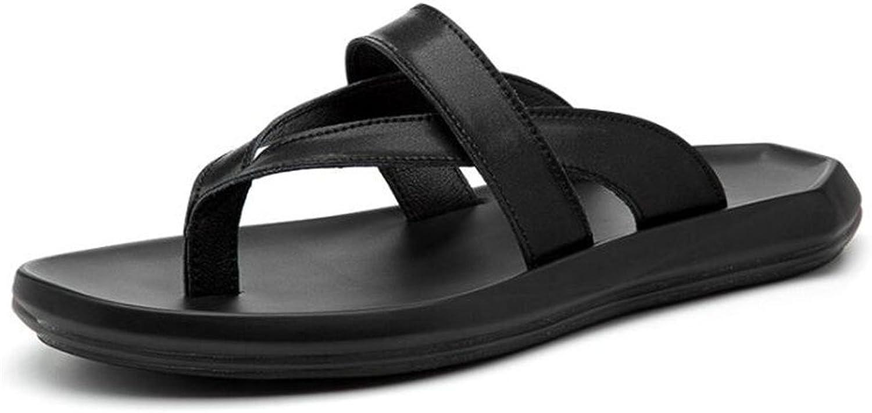 MSFS Men Leather Beach Flip flops Classic Open Toe Sandals Size 38To 44
