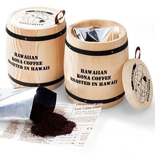 ハワイ 土産 樽入りコナコーヒー 2個セット (海外旅行 ハワイ お土産)