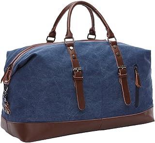 Icegrey Segeltuch Reisetasche Sporttasche Handgepäck für Damen und Herren mit der Großen Kapazität Dunkelblau
