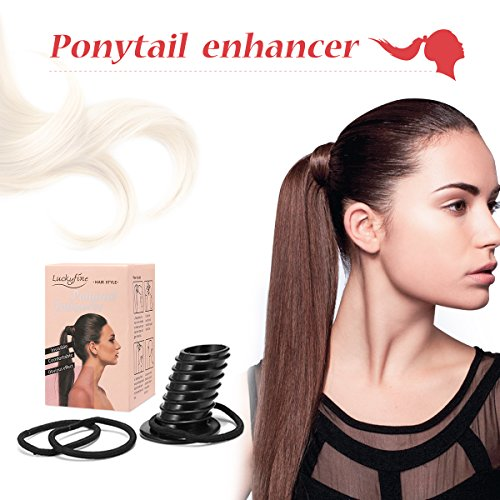 Luckyfine Perfekte Pony Hair Lift Volume Dicker Bump Up Haare Styling Tool Fülliger Pferdeschwanz Frisurenhilfe Zopf Hilfe Pferdeschwanz Frisurenhilfe Styling-Zubehör-Set Haarstyling Bekannt