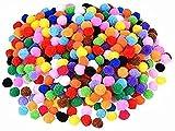 Anlising Pompones, 2000 unidades, pequeñas pompones de peluche, 6 mm, bolas de pompón para manualidades divertidas, creativas, peluches y artículos de hobby (multicolor)
