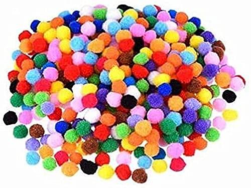 Anlising Pompon, 2000 Pezzi Piccoli Popom Colorati Soffici Palline di Peluche Mini Palle da 6 mm per Divertenti Creazioni Creative Fai-da-Te, Peluche Decorazioni e Accessori per Hobby (Multicolore)