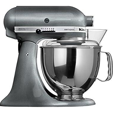 KitchenAid KSM150PSPM Artisan Series 5-Qt. Stand Mixer with Pouring Shield - Pearl Metallic