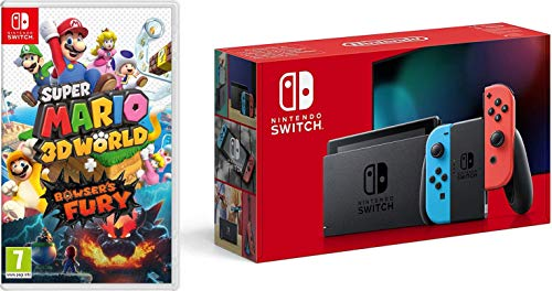 Nintendo Switch (Neon Red/Neon Blue) + Super Mario 3D World + Bowser's Fury £318 @ Amazon