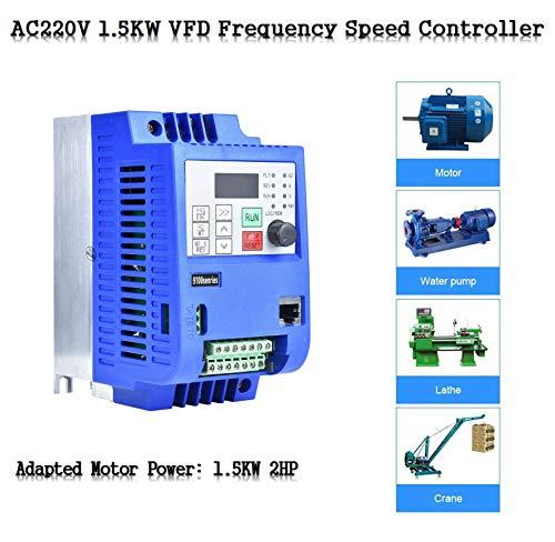 Frequentieomvormer VFD AC220V 1.5KW 2TE, frequentieomvormer NF9100-1T-00150G, frequentieomvormer PWM, eenfase- tot driefasefrequentieomvormer, spanningsvector, meervoudige bescherming