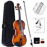 Aileen Violine Voller Größe 4/4 Ausstattung Massivholz, Schüler Erwachsene Anfänger Violinenset - Braun