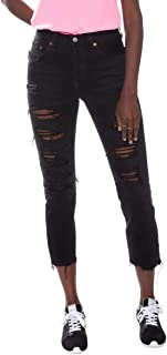 Calça Jeans Levis 501 Crop Feminino Preto