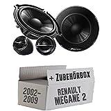 Pioneer TS-G133Ci - 13cm Lautsprechersystem - Einbauset für Renault Megane 2 - JUST SOUND best choice for caraudio