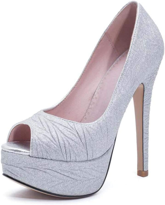 Women Peep Toe Sandals 2019 Spring Summer High Heel Platform shoes Size 33-43