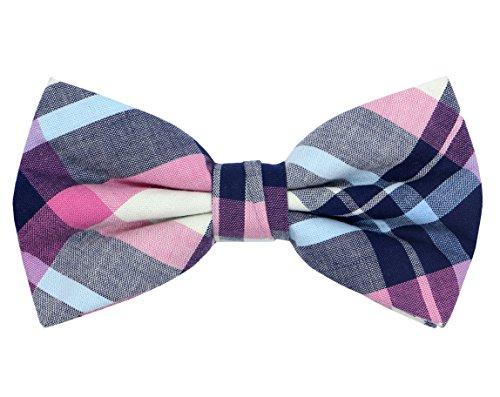 OCIA Mens Cotton Plaid Handmade Bow Tie -OM59