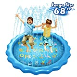 """Splash Pad Sprinkler for Kids Large Size, Panacare 68"""" Outdoor Water Toys for Toddlers, Outside Backyard Yard Water Play Toys, Summer Water Activities Fun Games Gift Toys Pad Mat for Baby Boys Girls"""