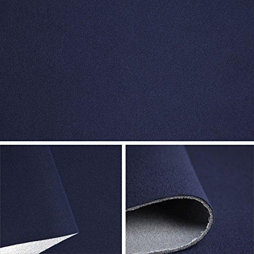 FORTISPOLSTER Himmelstoff Autostoff Polsterstoff Bezugsstoff kaschiert SAM189 (Marineblau)