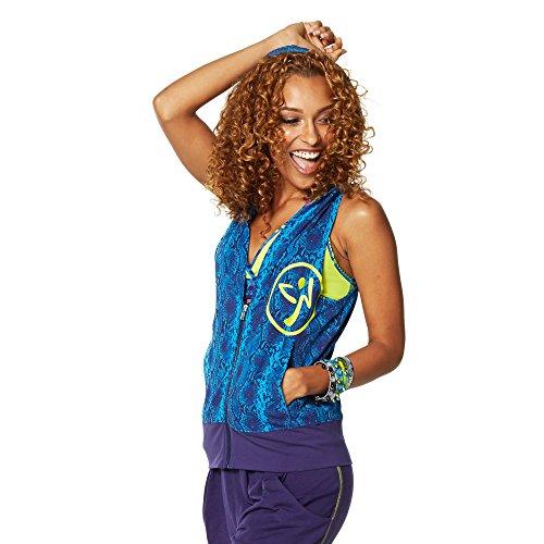 Zumba Fitness ZRep My Style Sleeveless Hoodie Sudaderas con Capucha, Mujer, Azul, XS