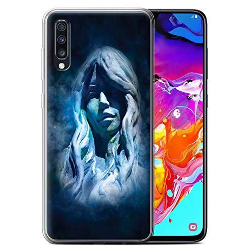 eSwish Carcasa/Funda TPU/Gel para el Samsung Galaxy A70 2019 / Serie: Zodíaco Estrella Firmar - Virgo/Virgen