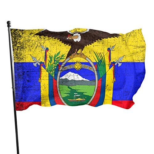 EU Ecuador Flagge Vintage 3x5 Fuß Nylon Flagge - Lebendige Farbe und UV-Lichtechtheit für drinnen und draußen
