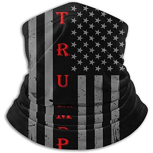 Fanqi Trump Vintage USA Thin Red Line Flag Calentador de cuello Polaina Pasamontañas Sombreros de invierno Headwear-H97-Y5