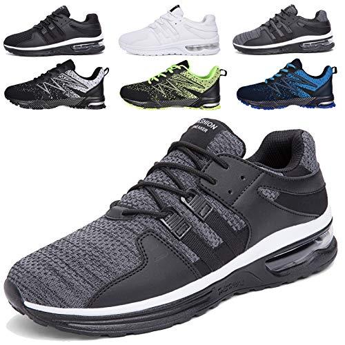SUYSTEX Sneaker Herren Laufschuhe Herren Leichtgewicht Sportschuhe Atmungsaktiv Gym Turnschuhe Straßenlaufschuhe Outdoor Fitnessschuhe 45 EU grau