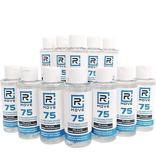 12 flaconi da 100ml gel igienizzante mani 75% ALCOL Gel mani profumato con GLICERINA che aiuta a idratare la pelle, super-concentrato, gel per le mani senza risciacquo (12 x100ml)
