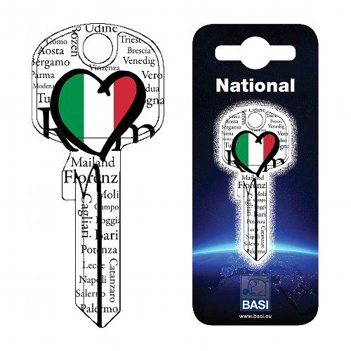 Fanschlüssel Schlüsselrohling Schlüsselanhänger Fanartikel Schlüsseldienst Italien