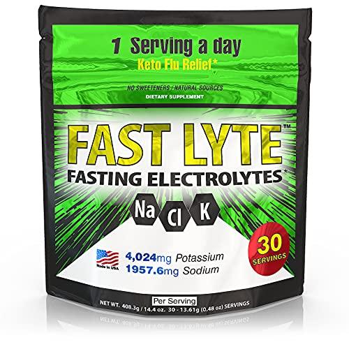 FAST LYTE Fasting Electrolytes 4000 mg Potassium 2000 mg Sodium - for...