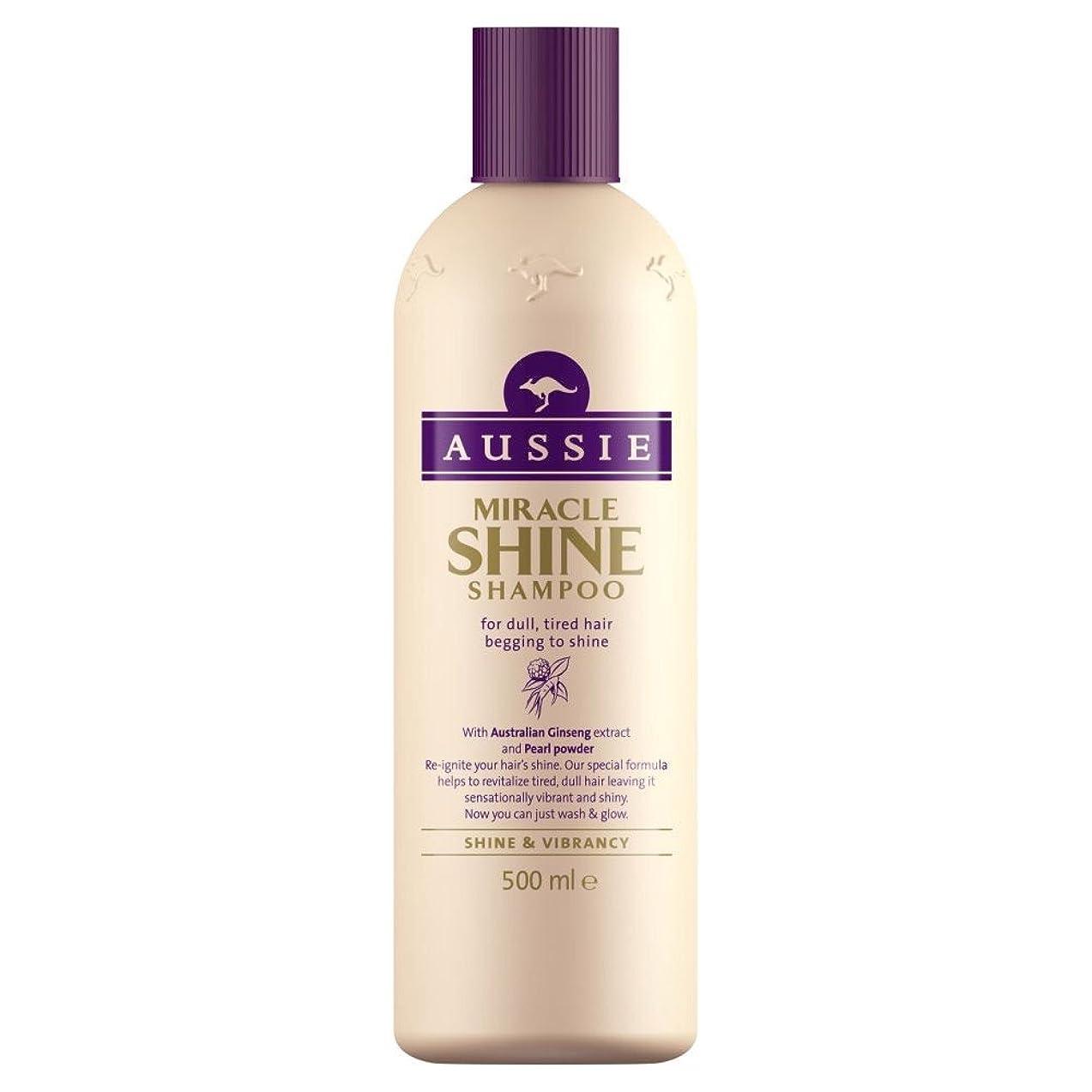 抑制する宮殿便利Aussie Miracle Shine Shampoo (500ml) オージー奇跡の輝きシャンプー( 500ミリリットル) [並行輸入品]