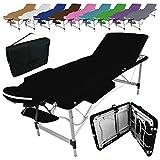 Vivezen  Table de massage pliante 3 zones en aluminium + Accessoires et housse de...