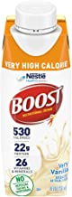Boost Very High Calorie Nutritional Drink, Very Vanilla, 24 Count