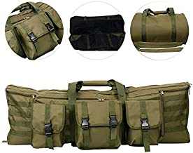 YaeTact 2 Rifle Bags Outdoor Tactical Double Carbine Cases Carbine Gun Case Backpack Tan Tactical MOLLE for 36