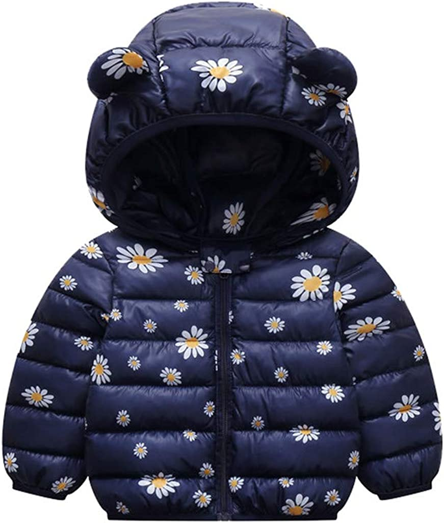 Toddler Baby Boys Girls Winter Cartoon Windproof Coat Hooded War