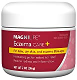 MagniLife Eczema Care+, Moisturizing Gel for Itchy, Dry Skin, Last Relief for Dermatitis and Eczema Flare-Ups - Natural Ingredients Aloe, Calendula & Tea Tree Oil - Steroid-Free, Paraben-Free - 2 oz