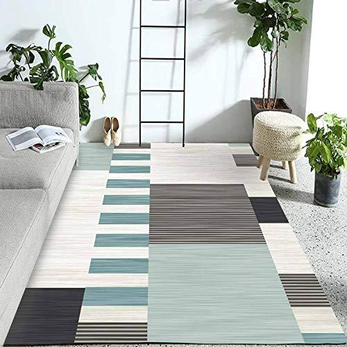 SN Huipneg Alfombra de área grande para sala de estar dormitorio alfombras nórdicas modernas geométricas niños gateando alfombra lavable antideslizante alfombra 180 x 250 cm