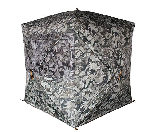 Muddy Infinity 3-Man Ground Blind with Shadow Mesh and 360 Degree View Eliminates Blind Spots