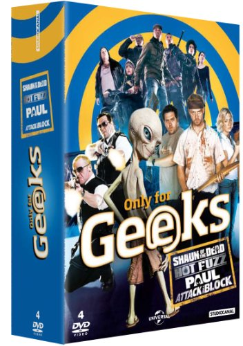 Only for Geeks-Coffret-Shaun of Dead + Hot Fuzz + Paul + Attack The Block