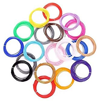 URANUS™ 10 Colors x 5 mtr 3D Pen Filament Refills 1.75 mm PLA Pack (10)