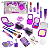 Interpad Kids Makeup Kit,Girl Pretend Play Toy Makeup Set for Kids Toddlers,20Pcs Princess Dress Up Playset Cosmetic Bag,Christmas Birthday Gift for 3 4 5 6 7 8 Year Old Girls( Not Real)