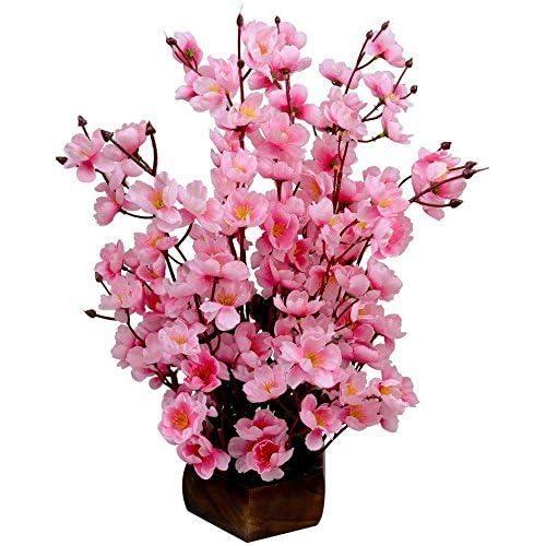 Sofix Beautiful Artificial Pink Flower Pot- 40cm (Pink)
