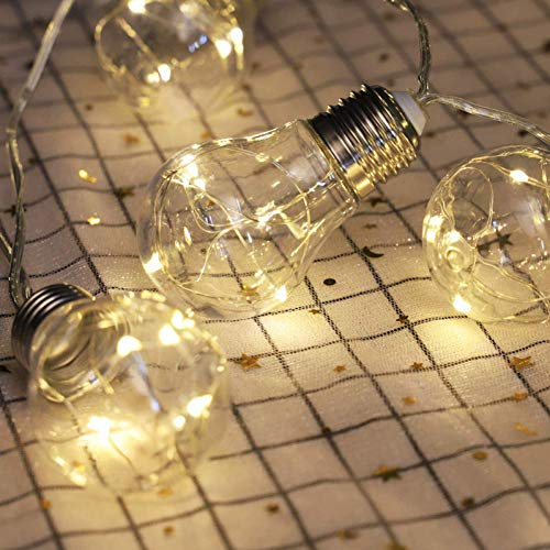Solar Ground Light Solar String Light Outdoor Vintage Plastic 10 Bulbs Hanging Waterproof String Lights For Deck Yard Tents Party Decor 5M