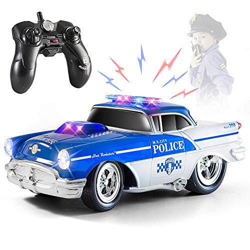 Top Race Remote Control Police Car Toy,...