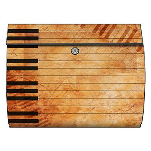 motivX-Ideenwerkstatt Briefkasten Swing Wandbriefkasten mit Motiv Klavier mediterran