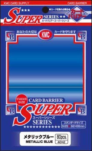 KMC Barrier Super Card Sleeves (80 Piece), Metallic Blue, 92 x 66mm