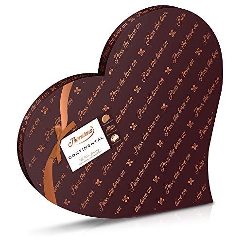 Scatola di cuori di cioccolato continentale Thorntons 530g - Scatola regalo di grande scelta premium