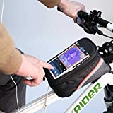 FUN n SHOP Bike Bicycle Front Frame Top Tube Bag with Touch Screen