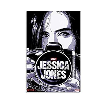 LINXIN Jessica Jones Poster Wall Art for Living Room Print Artwork Wall Art Decor Poster Painting Bedroom Bathroom Decorations Canvas Prints Picture Home Office Wall Decor 08x12inch 20x30cm