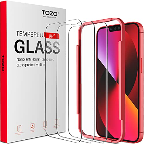 TOZO Compatible for iPhone 13 Mini Screen Protector 5.4 inch 3 Pack Premium Tempered Glass 0.26mm 9H Hardness 2.5D Film Easy Install 5.4...