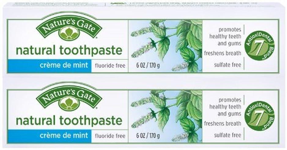 突撃日曜日形Toothpaste-Creme De Mint Tube - 6 oz - Paste by Nature's Gate [並行輸入品]