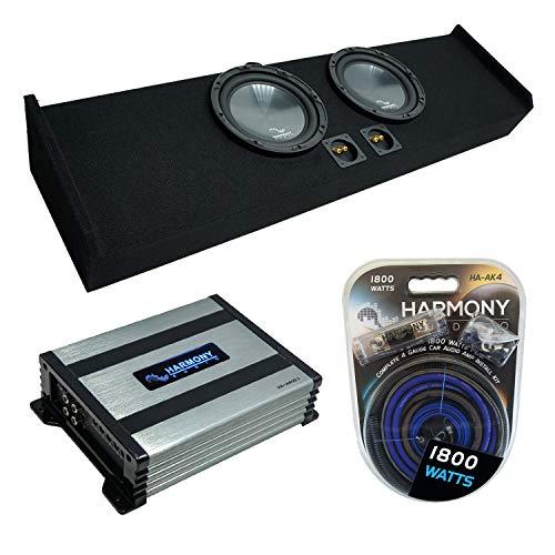 Harmony Audio R124 Dual 12' Loaded Sub Box Bundle with HA-A400.1 Amp...