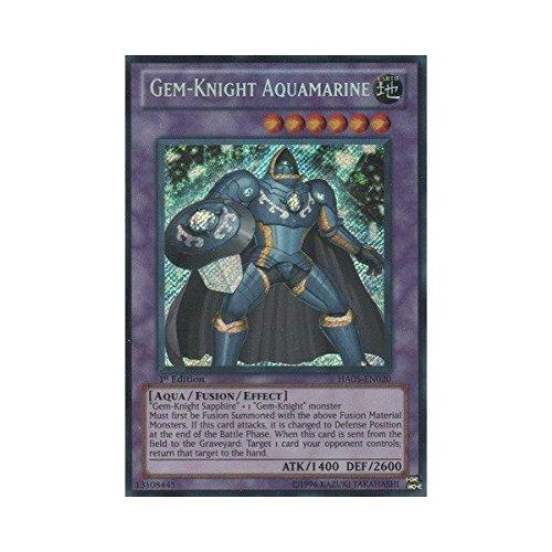YU-GI-OH! - Gem-Knight Aquamarine (HA05-EN020) - Hidden Arsenal 5 - 1st Edition - Secret Rare