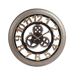 Changde Jun Feng Shop- Roman Numeral Clock - Metal Creative Wall Clock - Retro Industrial Gear Wrought Iron Wall Clock (Edition : B)