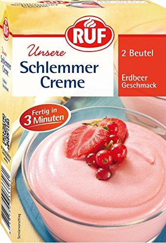 RUF Schlemmercreme Erdbeer, 10er Pack (10 x 140 g)